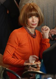 """Anna Wintour attends the """"Miuccia Prada And Elsa Schiapparelli: Impossible Conversations"""" opening exhibition during Milan Womenswear Fashion Week on February 24, 2012 in Milan, Italy."""