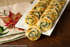Muenster and Spinach Pinwheels