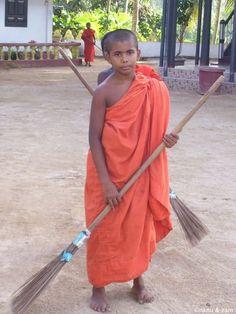 A child Monk - Hikkaduwa Buddhist Temple