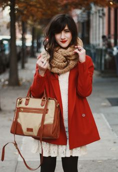 Love this! So cozy and beautiful!!!! Looks great paired with her red lips. Would be awesome for those days when I feel like I just need something vivid to brighten up my day.