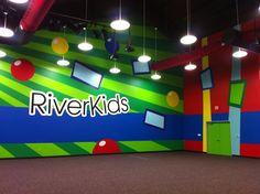 Church game room | Worlds of Wow Blog: Creative Theme for Riverbend Church, Austin, TX