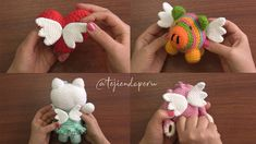 Crochet Amigurumi Dolls With Wings Free Pattern [Video] Crochet Pig, Free Crochet, Crochet Hats, Crochet Dolls Free Patterns, Crochet Stitches, Amigurumi Doll, Cool Toys, Fingerless Gloves, Arm Warmers