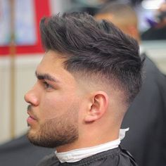 Spiky Hair + High Bald Fade + Beard
