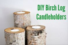 Birch Log Candleholders – Another Look – Lifeovereasy