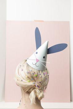 DIY bunny hats