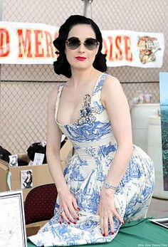 Beautiful vintage Vivian Westwood dress AND awesome sunglasses.