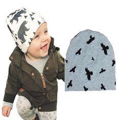 New 2016 INS baby boy Hat INS cartoon pattern baby girl Beanies Kawaii Birds…
