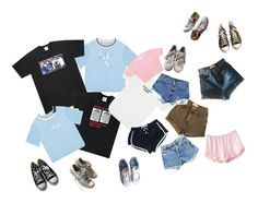 """""""Untitled #13"""" by enswi on Polyvore featuring UNIF, My Mum Made It, American Apparel, Levi's, Converse and adidas"""