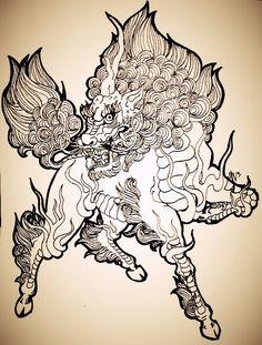 Kirin or Japanese Unicorn by schonheit on DeviantArt