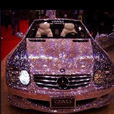 I love the car but not the crystals effect. It might be super expensive, but no! I guess somebody hurt that car with these crystals. Crystals definitely look better on a woman than on a car! Sorry, but I don't like it:-P:-)