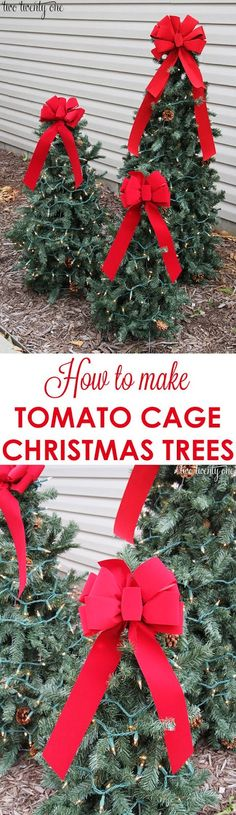 Metrolina ReStores Blog: Tomato Cage Christmas Trees - Easy DIY Project with ReStore Garland from @Jhburnham