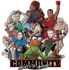 The Gang from Community as the cast of Street Fighter. I love the interwebs.
