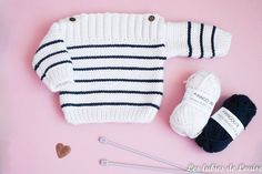 Baby Boy Clothes Baby Boy Coming Home Outfit Baby Boy Gift Baby Knitting Patterns, Baby Sweater Knitting Pattern, Knit Baby Sweaters, Knitting For Kids, Easy Knitting, Crochet For Kids, Crochet Baby, Knit Crochet, Tricot Baby