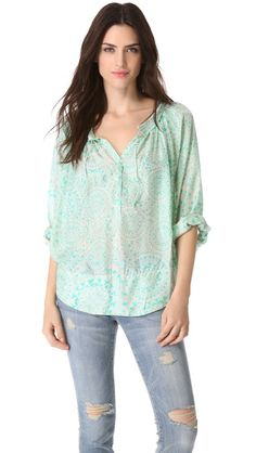 Love Sam Zodiac Print Blouse on @Shopbop
