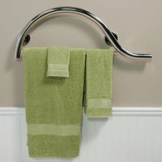 Luxury Piano curved grab bar with towel bar from Freedom Showers. This curved grab bar is polished for a designer look. 3d Bathroom Design, Ada Bathroom, Modern Bathroom Faucets, Small Bathroom With Shower, Bathroom Images, Steam Showers Bathroom, Bathroom Towels, Handicap Bathroom, Bathroom Ideas