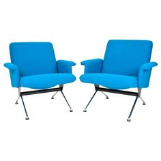 Set of Andre Cordemeyer Dutch Easy Chairs No. 1432 for Gispen ca.1961