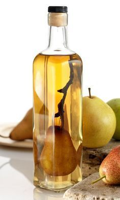 homemade pear liqueur
