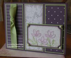 Beautiful purples from Stampin' and Other Stuff