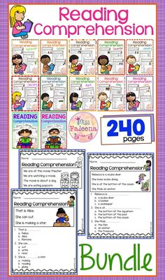 Reading Comprehension the Bundle is suitable for Kindergarten students or beginning readers. This product is helping children to sharpen reading and comprehension. There are 240 pages of reading comprehension worksheets.  Preschool   Preschool Worksheets   Kindergarten   Kindergarten Worksheets   First Grade   First Grade Worksheets   Reading  Reading Comprehension   Reading Comprehension The Bundle   Reading Comprehension Literacy Centers   Printables  Worksheets