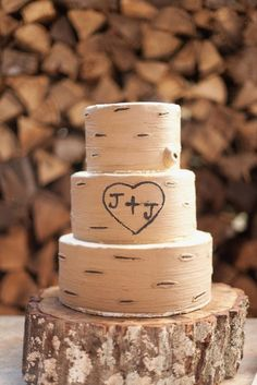 Rustic themed grooms cake