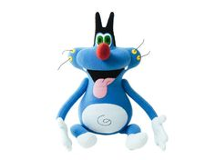 Blue funny cat Oggy cartoon - handmade soft toy. Cartoon Oggy and the Cockroaches. Made to order