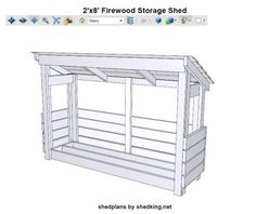 3d pdf file with firewood shed plans. Wonder if I could use pallets. At lest for some of it.