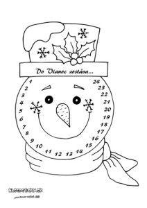Adventný kalendár so snehuliakom - Aktivity pre deti, pracovné listy, online testy a iné