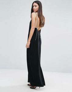 Warehouse Diamante Cami Maxi Dress at ASOS. Shop this season's must haves with multiple delivery and return options (Ts&Cs apply). Low Back Dresses, Tall Dresses, Black Prom Dresses, Going Out Dresses, 30th Birthday Dresses, Perfect Little Black Dress, Rhinestone Dress, Latest Dress, V Neck Dress