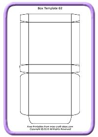 Rectangle Box Template Printable  Google Search  Cutii