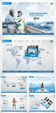 Columbia Fishing by kevior meng, via Behance