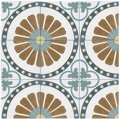 Merola Tile Revival Ring 7-3/4 in. x 7-3/4 in. Ceramic Floor and Wall Tile-FRC8REVR - The Home Depot