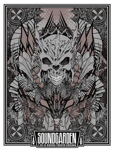 INSIDE THE ROCK POSTER FRAME BLOG: Soundgarden Chicago Posters by Brian Mercer On Sale