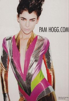 Liberty Ross for Pam Hogg Spandex Catsuit, Spandex Bodysuit, Pam Hogg, Liberty Ross, Burning Man Outfits, Space Girl, One Piece Outfit, Retro Futurism, Glam Rock