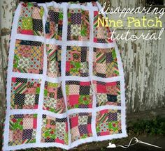 Scrappy Disappearing Nine Patch Tutorial 01...a totally different layout for the tossed nine patch quilt!