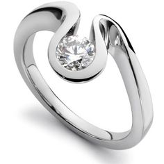 Flowing The Essence Of Wave 18ct gold and diamond ring 0.40ct