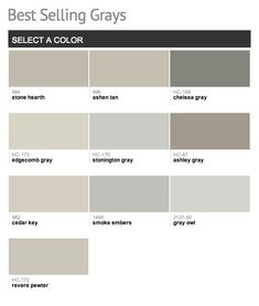 Benjamin Moore's Best Selling Grays Another I would suggest looking into is  Coastal Fog. Reads a little soft green, and goes great with wood tones.
