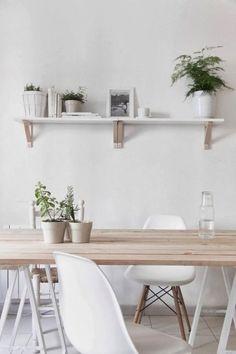 Salle à manger à la décoration scandinave