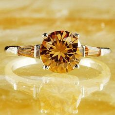 Round Cut Morganite Gemstone Silver Ring Size 8