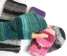 Easy Fingerless Mitten with Flaps for All Sizes - Crochet Pattern - PDF - immediate download