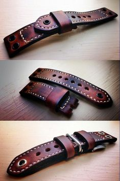 Leather Belts, Leather Tooling, Leather Jewelry, Leather Keychain, Leather Pouch, Watch Belt, Watch Straps, Panerai Straps, Cuir Vintage