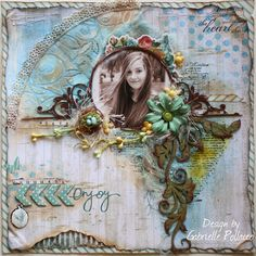 Scrapbook page made with the June Scraps of Elegance Kit by guest designer Gabrielle Pollacco, #SOE, #Scraps of Elegance, #GabriellePollacco