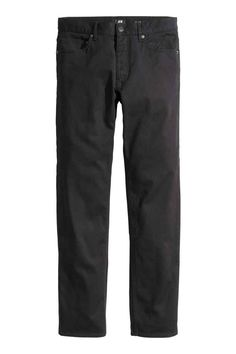 Twill trousers Slim fit: 5-pocket trousers in washed stretch twill with slim legs and a regular waist. Slim fit.