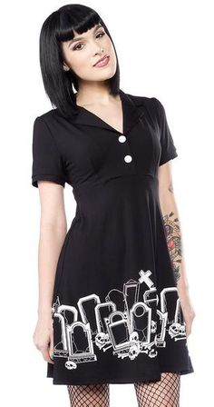 The Gravedigger Rosie Dress by Sourpuss Clothing