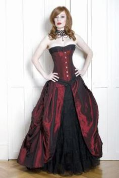 probably not real appropriate for the ball with the corset-top but I still really like it
