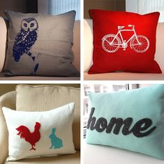 Pillow Talk: Red and Blue Pillows To Snuggle Up To Pillow Fight, Pillow Talk, Blue Pillows, Throw Pillows, Chicken Pillows, Diy Living Room Decor, Cute Home Decor, How To Make Pillows, My New Room