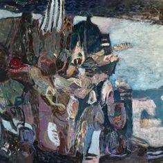 "Sunken Sticks And Beaches 40"" x 48"" oil on canvas #painting #art #contemporaryart #abstract #studio #landscape #artist #artcollector #abstractart #"