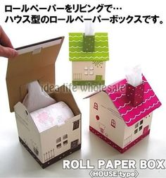 Tissue paper roll box