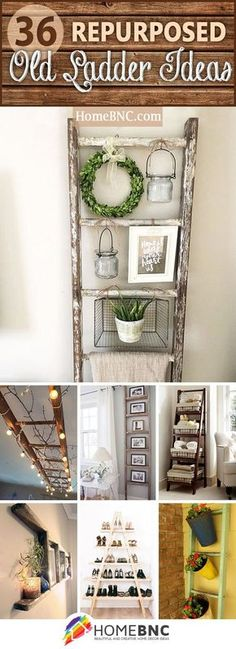 Repurposed Old Ladder Ideas