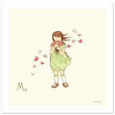 """may flowers"" by sarah jane studios 8x8 $26"