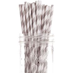 Stripe Paper Straws ($8) ❤ liked on Polyvore featuring home, kitchen & dining, kitchen gadgets & tools e food